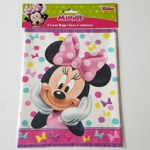 """8 Disney Minnie Loot Bags 7.25""""x9"""" in"""